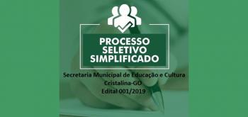 Formulário PROCESSO SELETIVO SIMPLIFICADO 2019