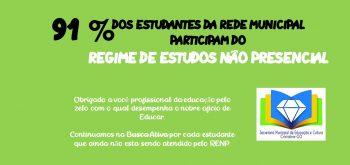 REGIME DE ESTUDOS NÃO PRESENCIAL